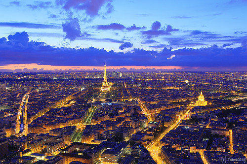 Paris at Night from Montparnasse Tower