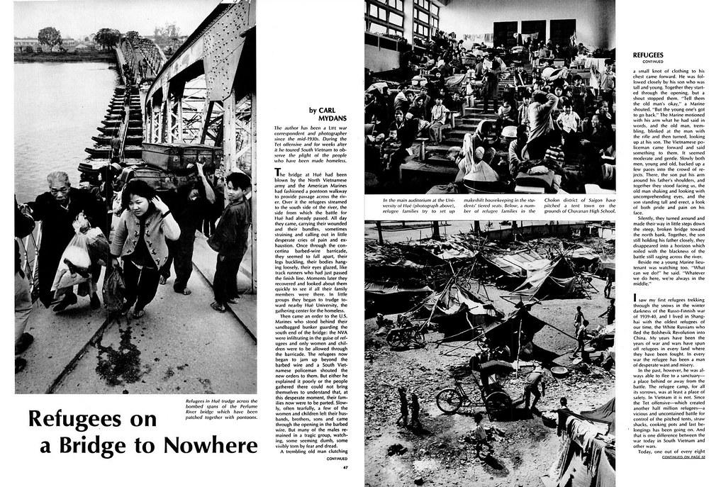 LIFE Magazine April 26, 1968 (1) - Refugees on a Bridge to