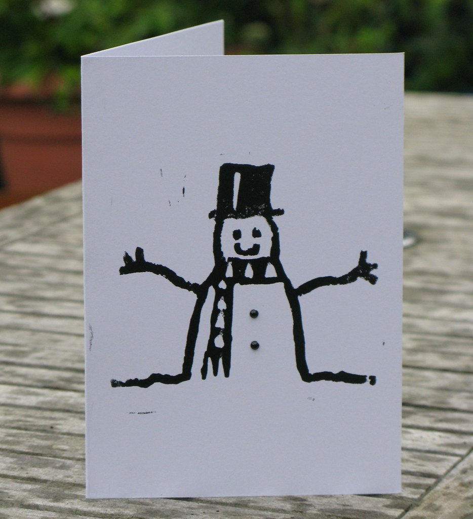 Snowman Christmas Card design 2014 | I now have 50 snowmen d… | Flickr