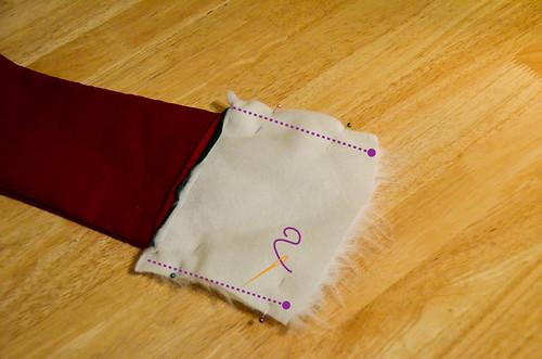 Step 10: Pin & Sew Cuff Sides