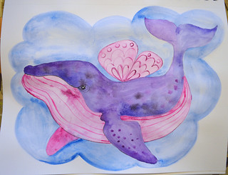 27 - Do It - Flying Whale - Art Journal Page | by Pict Ink