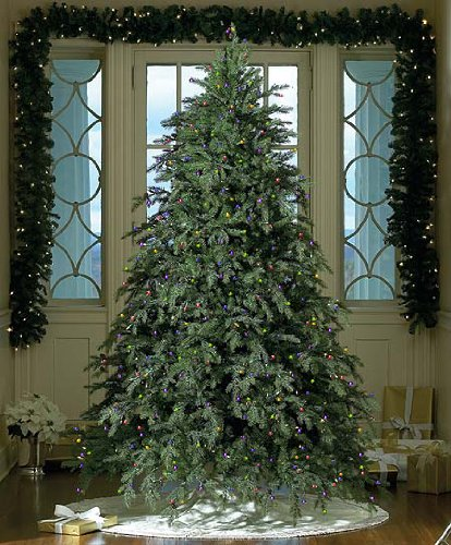 75 downswept hunter fir pre lit artificial christmas tree multi lights big sale - Pre Lit Artificial Christmas Trees Sale