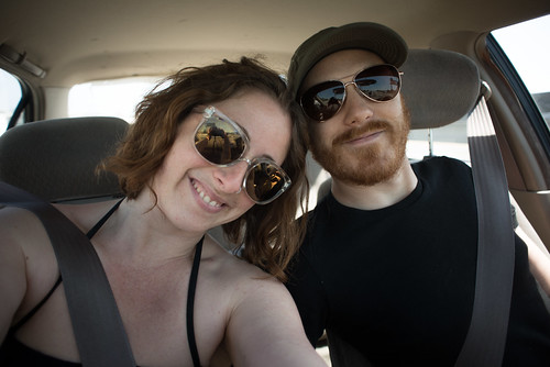 Us in Oakland, California, Driving to Valley Springs for Powered Paragliding Lessons at Blackhawk Ranch | by goingslowly