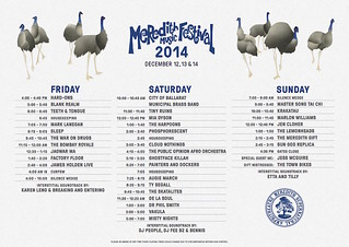 MMF2014 Playing Times-2 | by Aunty Meredith