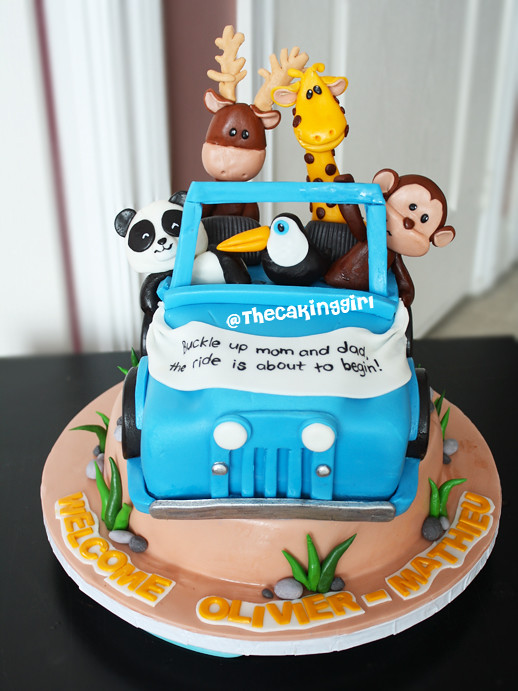 ... Baby Animals Baby Shower Cake, 3D Sculpted Jeep Cake | By  TheCakingGirl.ca