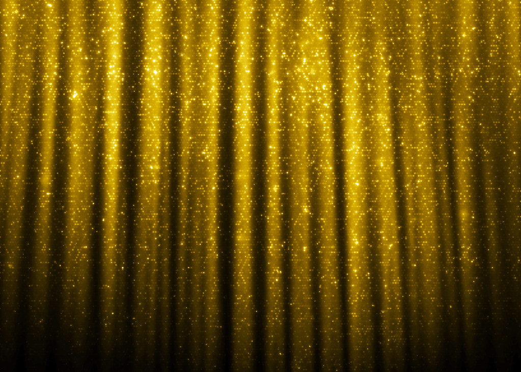 By Catalinajess Gold Sparkle Glitter Curtains Background