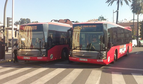 Autobuses urbanos en El Arenal