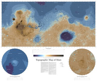 Topographic map of Mars | by daniel_machacek