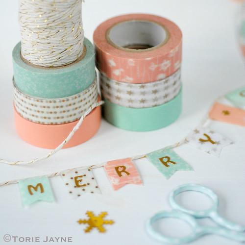 Christmas washi tape bunting | by toriejayne