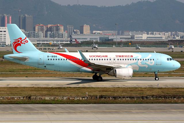 Loong Air   Airbus A320-200   B-1866   Shenzhen Baoan