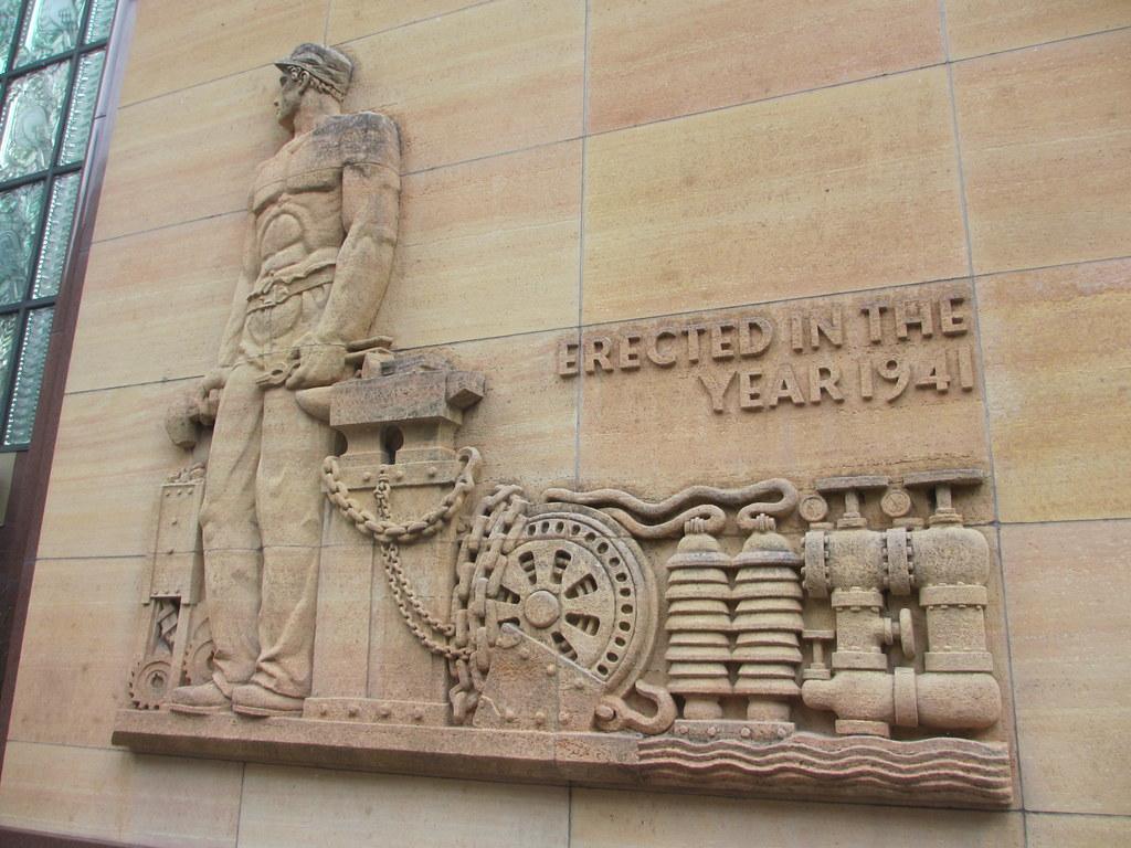Art deco bas relief, Farmers and Mechanics Savings Bank Bu… | Flickr