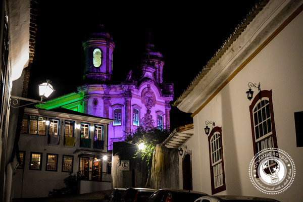 Ouro Preto Church at Night