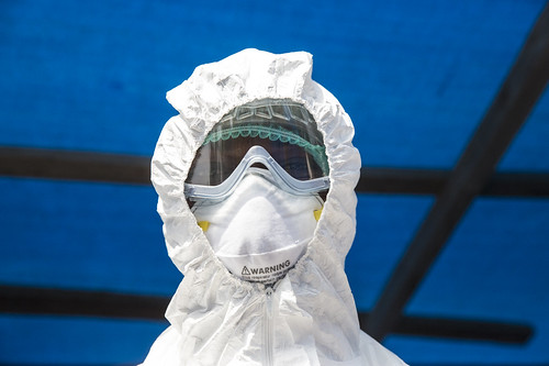 Health Worker at Ebola Isolation Ward in Kabala, Sierra Leone | by United Nations Photo