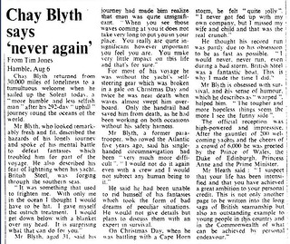6th August 1971 - Chay Blyth finishes his round the world voyage | by Bradford Timeline