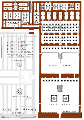 Plan Temple Seti I Abydos 2 Map Of The Temple Of Seti I