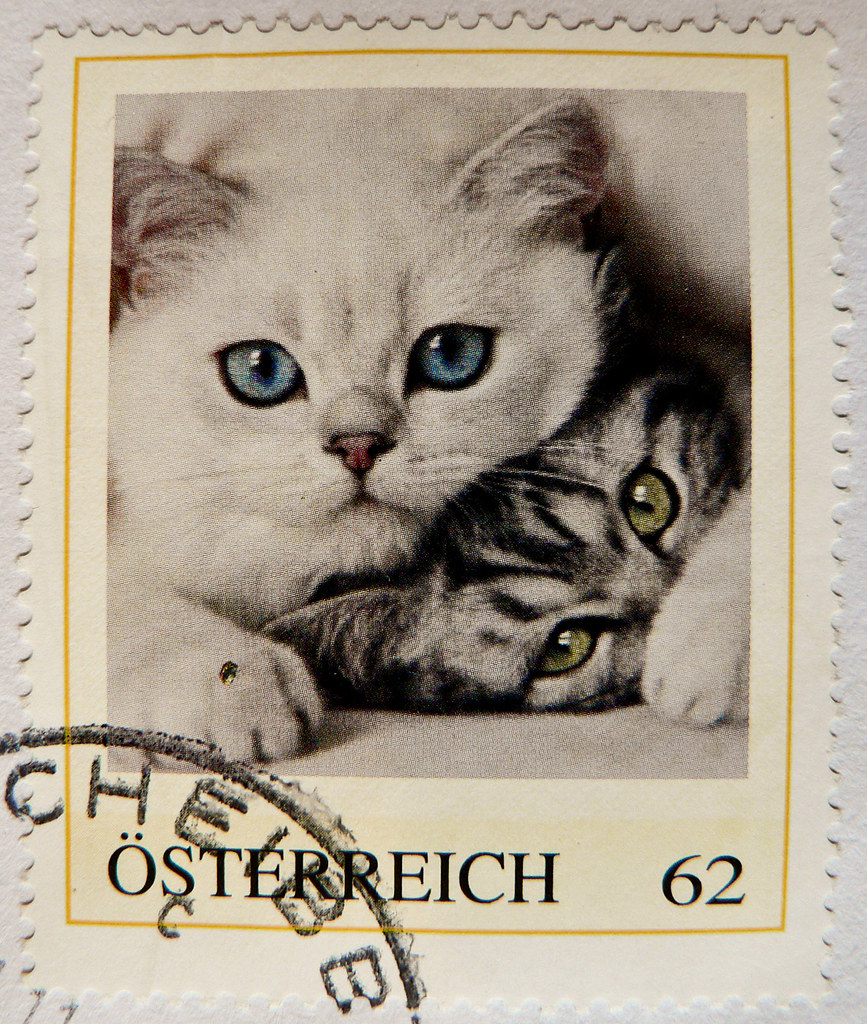 great stamp austria 62c personal stamp meine marke cats flickr