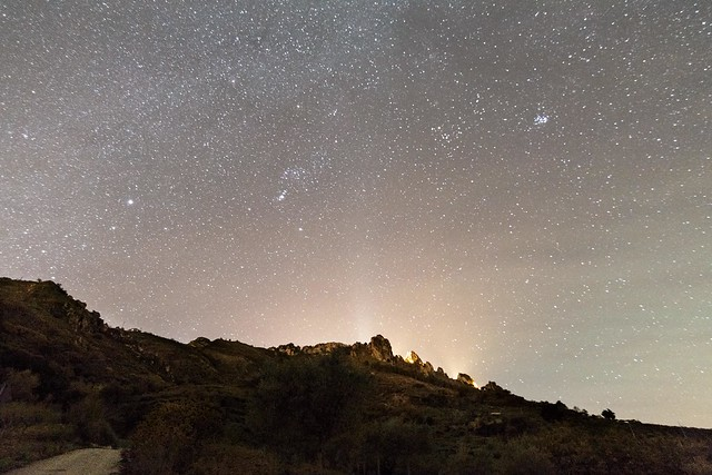 Night sky in Caltabellotta, Sicily.