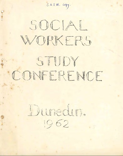 Social Workers' Study Conference 1962 | by ANZASW