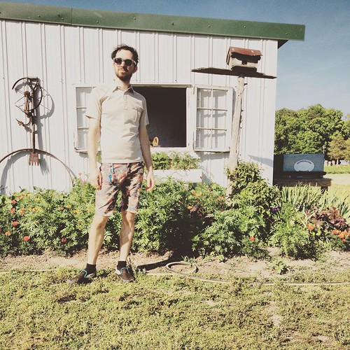 Me Next to Birdhouse at Cullipher Farm Market (May 25 2015)