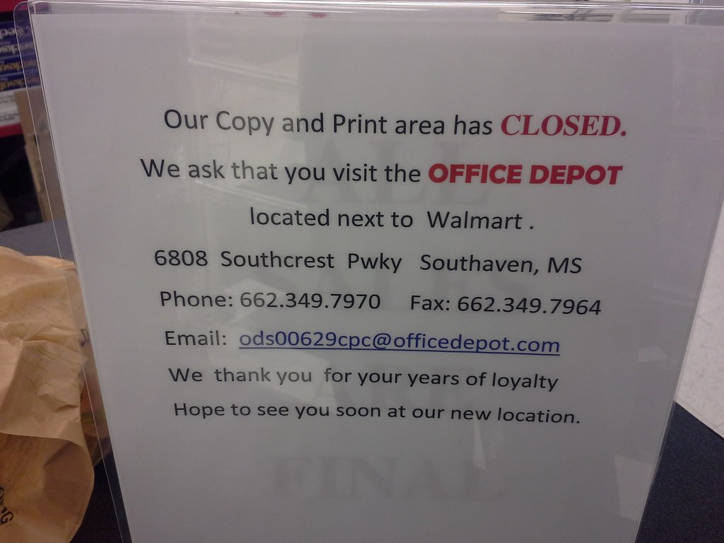 ... Copy And Print Center Called It Quits Early | By L_dawg2000