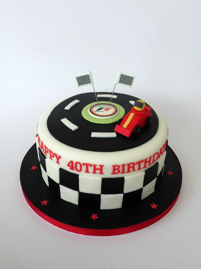 Formula 1 40th Birthday Cake Melissa Rayner Flickr