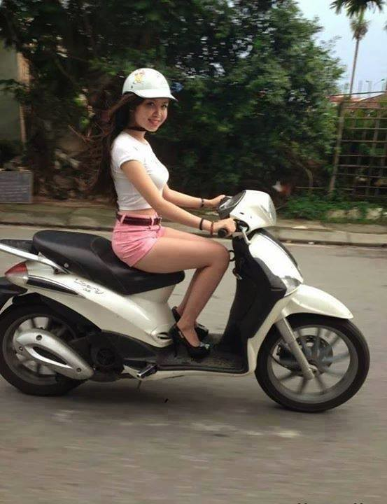Hot Girl On Scooter