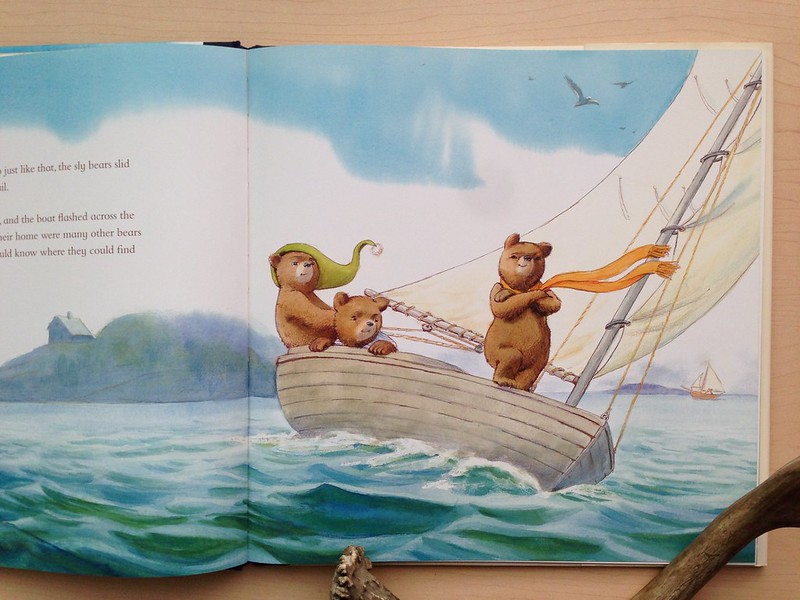 Three Bears in a Boat page detail