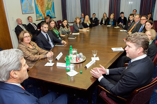Secretary Kerry Meets With Embassy London Staffers to Solicit Advice, Answer Questions | by U.S. Department of State