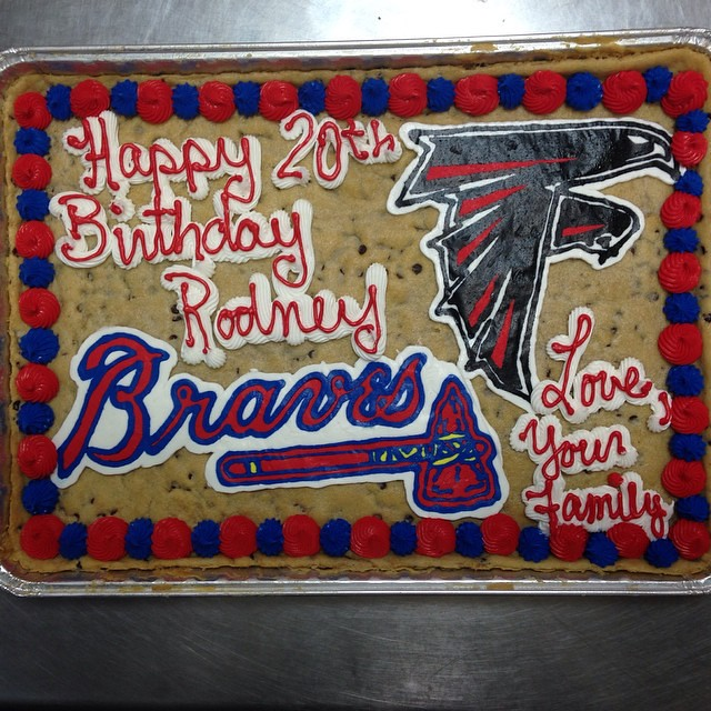 Happy 20th Birthday Rodney A Cookie Cake Delivery To JSU From Your Family In Atlanta