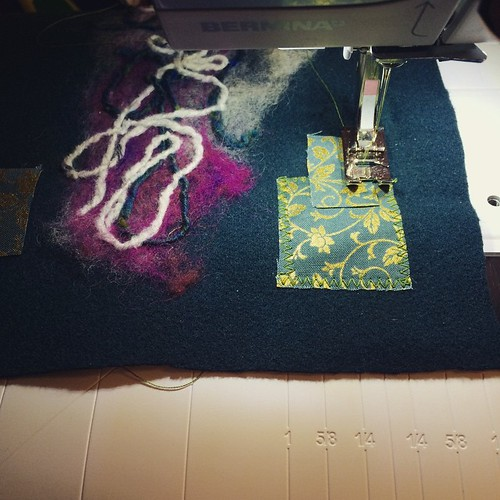 Working on the crochet hook bag:) Lavorando al porta uncinetto:) | by emmafassio