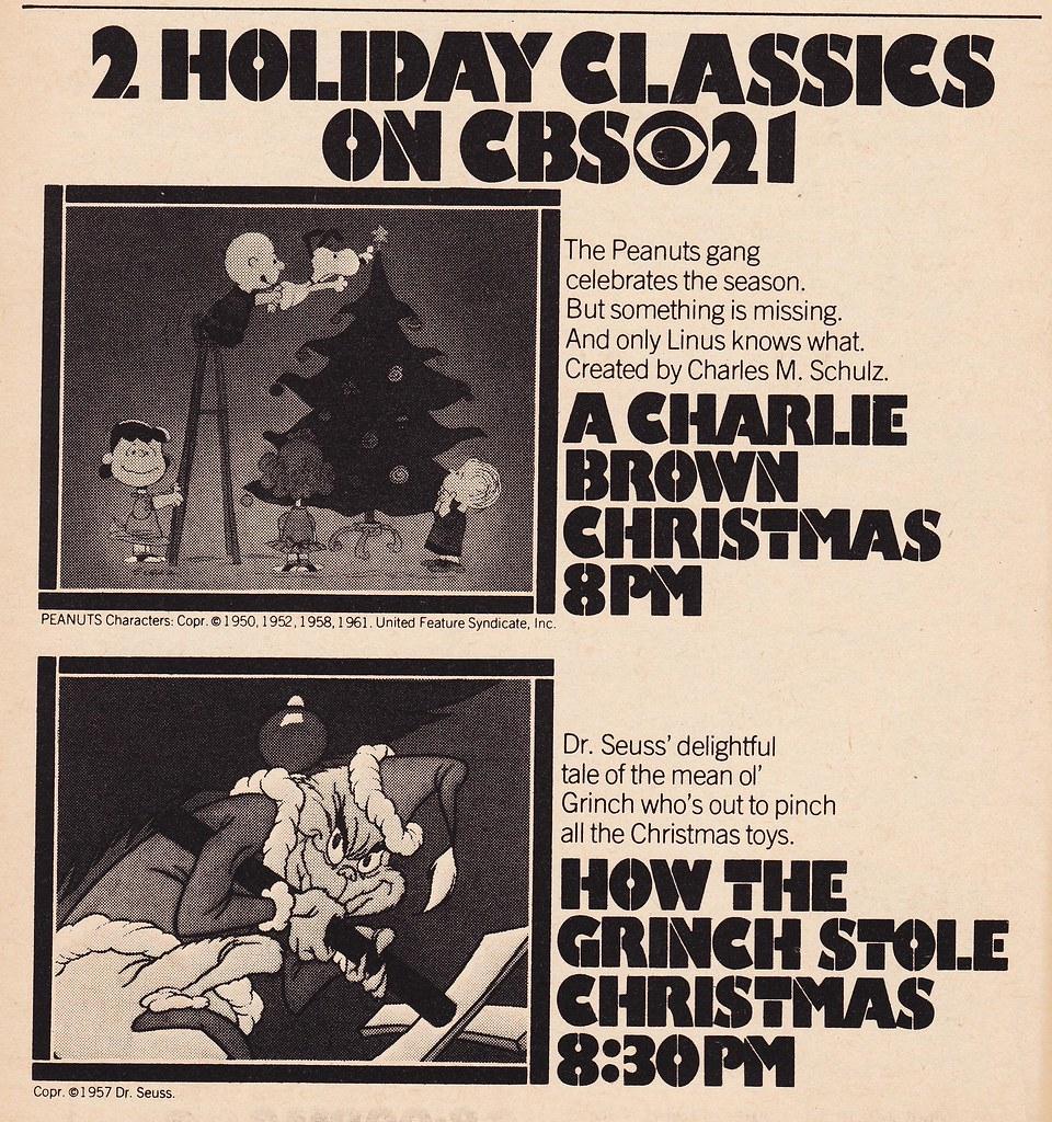 retro christmas 1976 tv guide ad for a charlie brown christmas and - When Is Charlie Brown Christmas On Tv