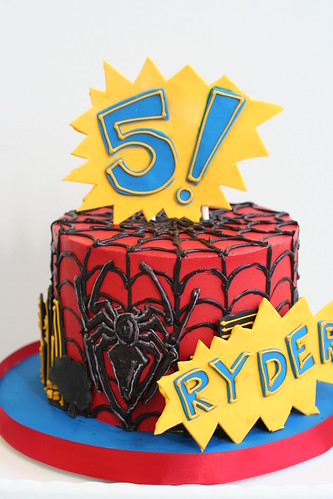 Spiderman Cake for Ryder! | by Sweet Lauren Cakes