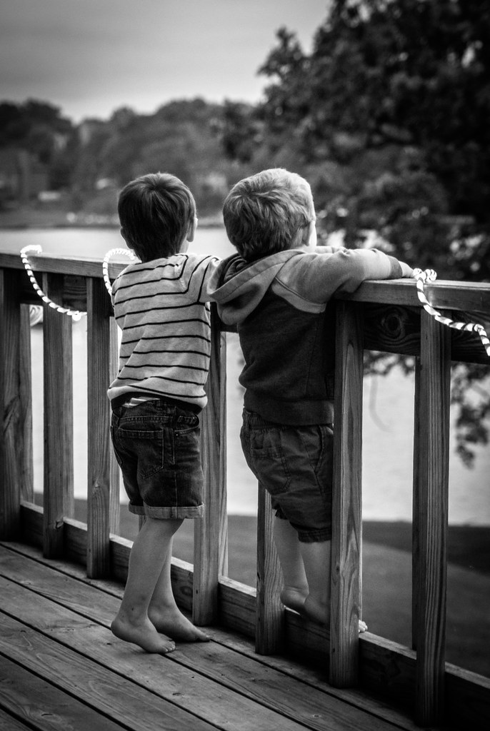 Boys on the deck