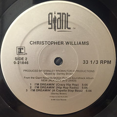 CHRISTOPHER WILLIAMS:I'M DREAMIN'(LABEL SIDE-B)