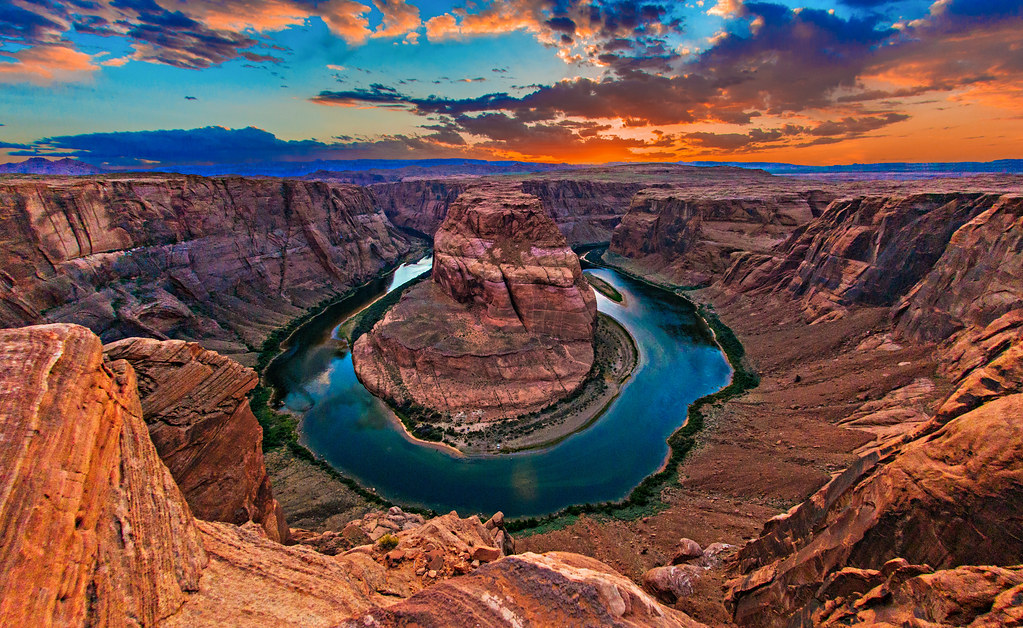 Horseshoe Bend, Colorado River, Arizona | 360° Aerial Panoramas ...