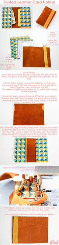 leather folded card holder | by a²(w) - asquaredw - Ali