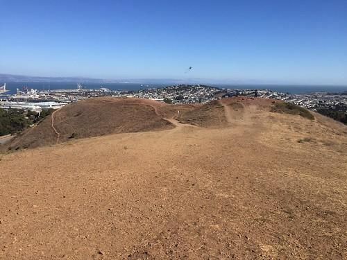 Kite flying on Bernal
