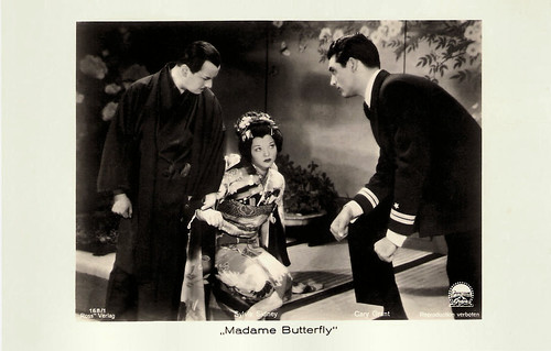 Sylvia Sidney and Cary Grant in Madame Butterfly
