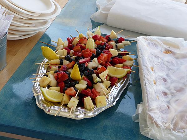 fruits et biscuits