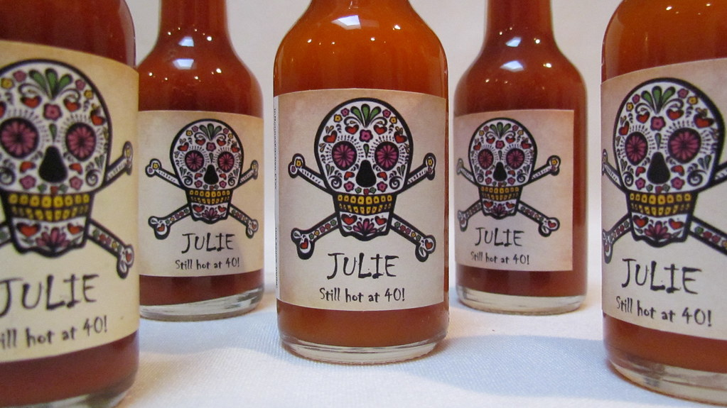 Day Of The Dead Hot Sauce Wedding Favors Dasweetzpot Perso Flickr