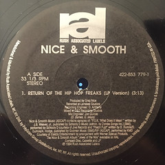 NICE & SMOOTH:RETURN OF THE HIP HOP FREAKS(LABEL SIDE-A)