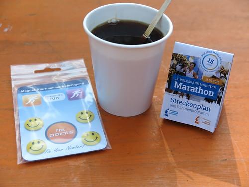 Kaffee (bei der Abholung der Starterunterlagen des Münster Marathon 2016)