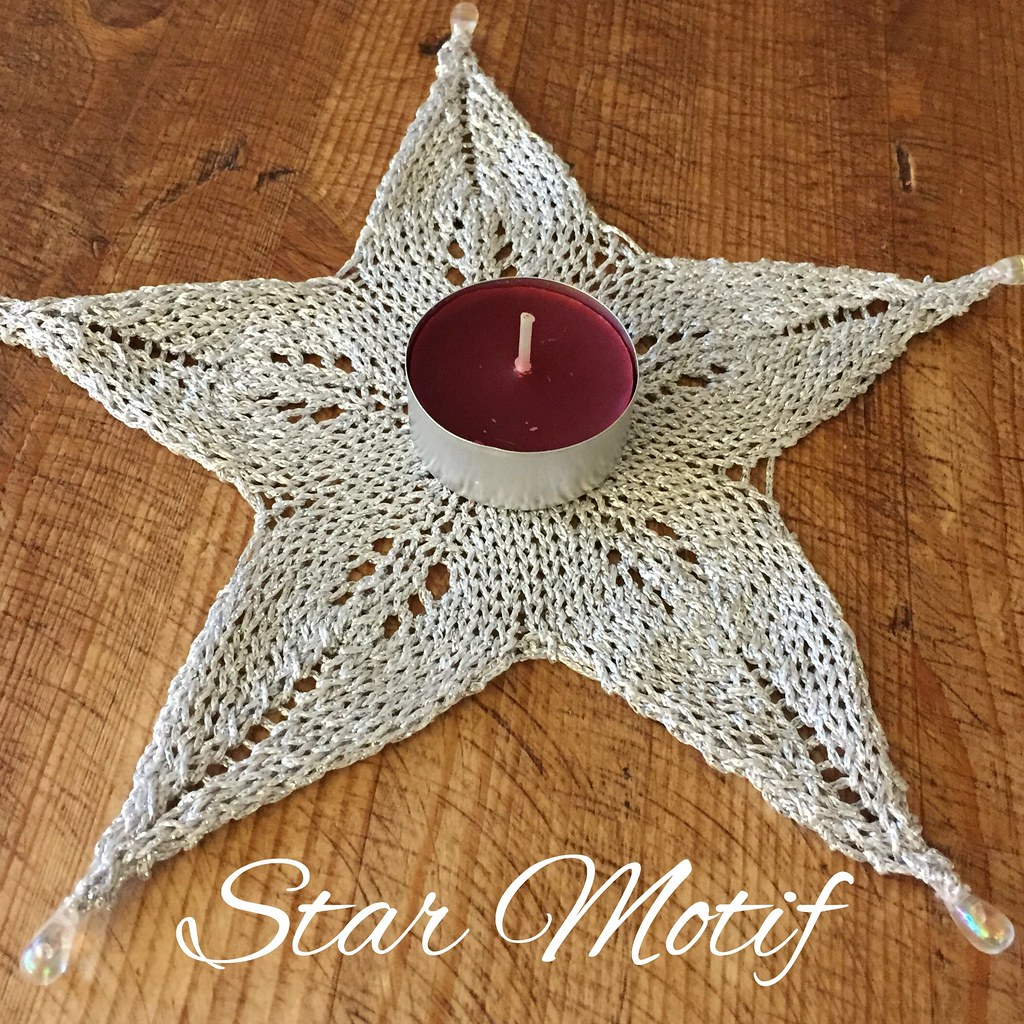 Knitted Star Motif Free Knitting Pattern On Crafts From Flickr