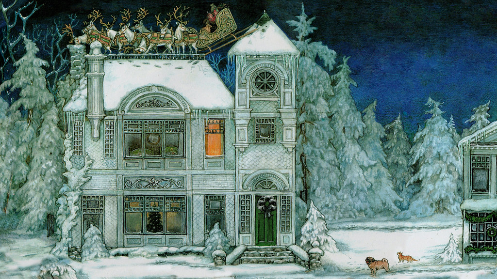 Jan Brett The Night Before Christmas 1998 Formatted For Computer Wallpaper 1920x1080