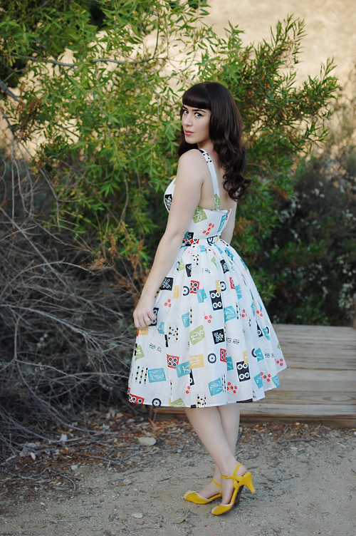 Trashy Diva Annette Dress in Mahjong Print