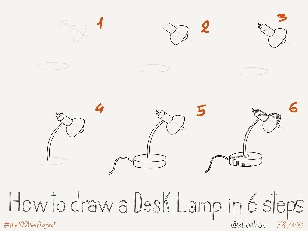 Amazing ... How To Draw A Desk Lamp | By XLontrax