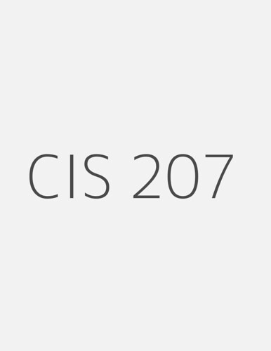 cis 207 week 2 individual Save time and money our teachers already did your homework, use it.