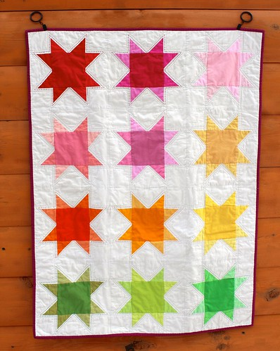 Ombre Rainbow Stars Baby Quilt | by CoraQuilts~Carla