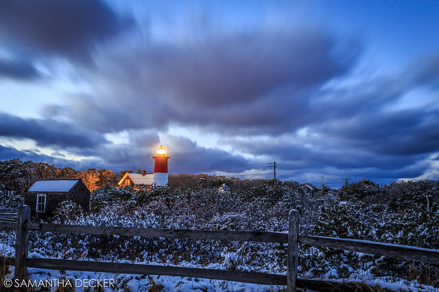 Nauset Light at Blue Hour