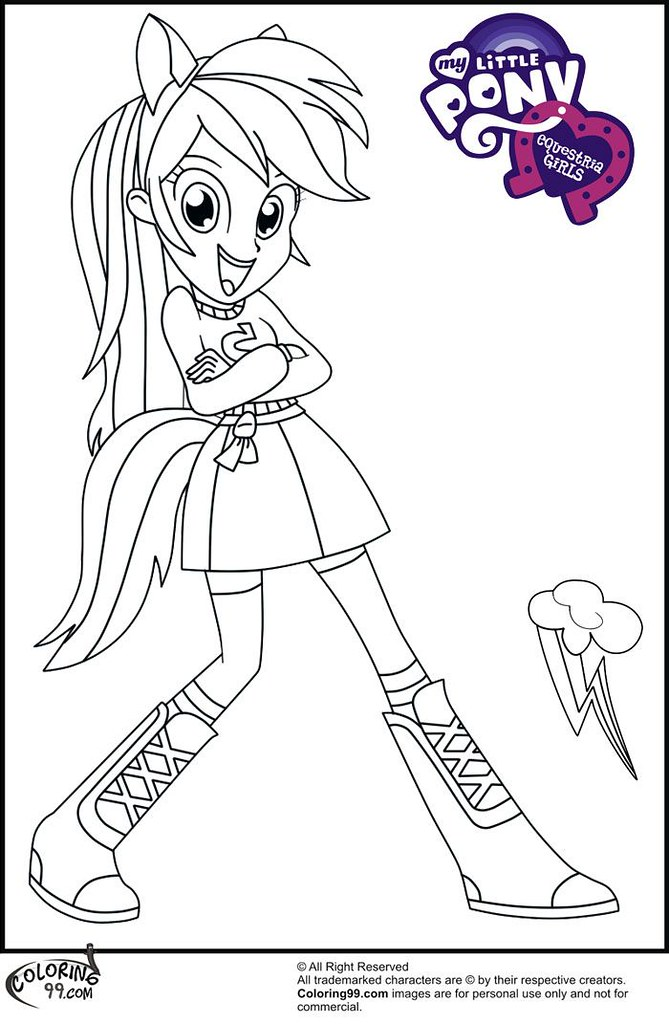 my little pony coloring pages rainbow dash human free imag flickr